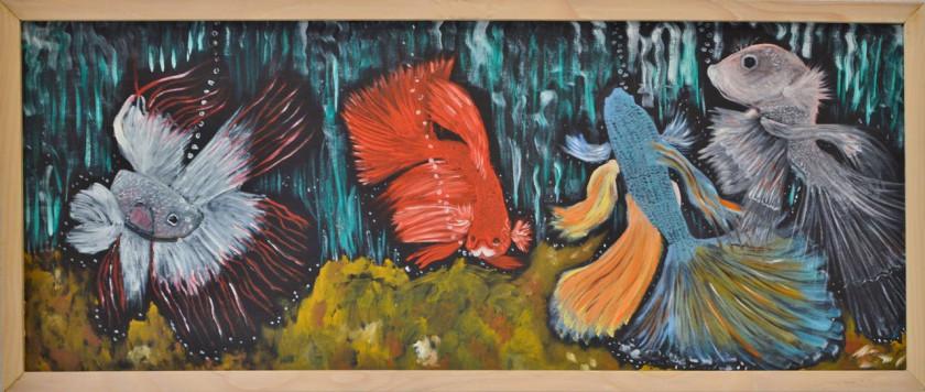 Huile sur bois de Gilbert Marcel Egger