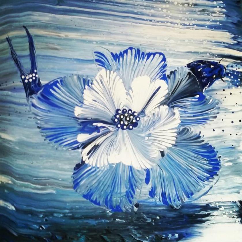 Le poisson-fleur - Acrylique sur toile  de Nagwa Safey