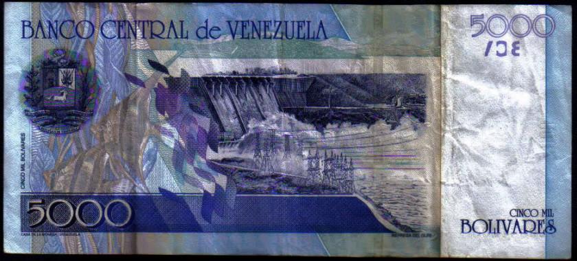 Billet avec scalaire au vénézuela