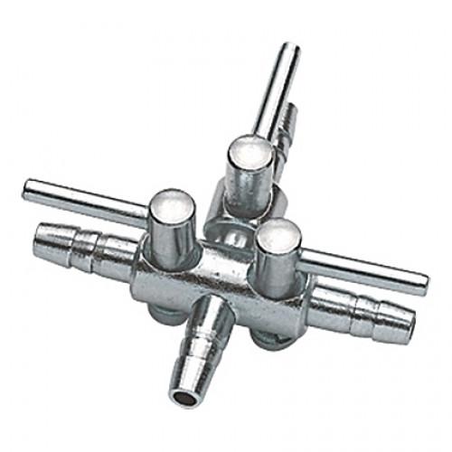 Robinet à air (contrôleur) en métal HOBBY pour tuyau 4/6mm - 3 sorties
