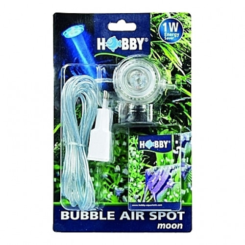 Spot de lumière submersible (LED bleue) 1W HOBBY BUBBLE AIR SPOT moon