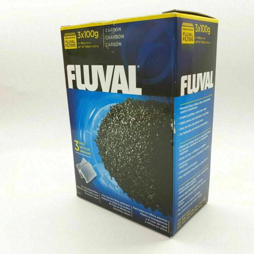 Lot de 3x100gr Filtre charbon Fluval 3 Paquets 100 gr Aquarium EAU Transparent