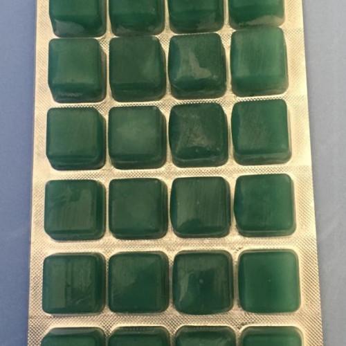 Plancton vert végétal congelé