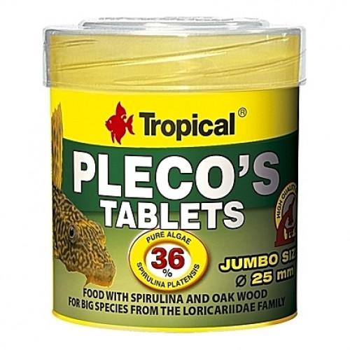 11 Comprimés d'algues de 2,5cm PLECO'S TABLETS 50ml