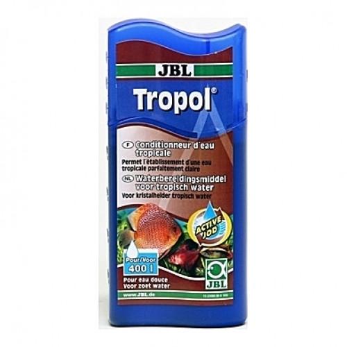 Facilitateur d'acclimatation de poissons d'eaux noires JBL Tropol - 100ml (=400L)