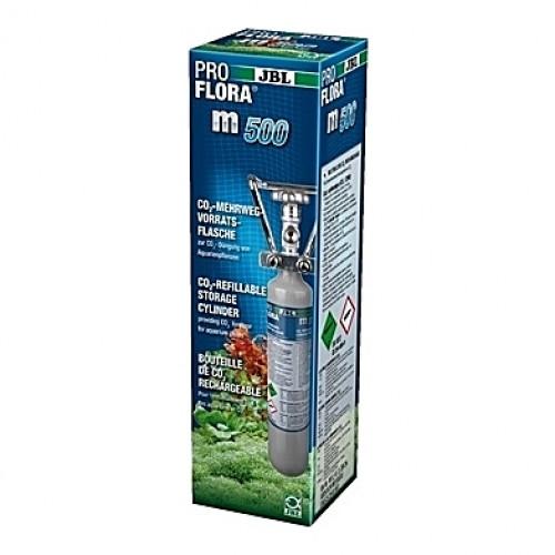 Kit CO2 complet (bouteille rechargeable) JBL Proflora m500 Silver - 500g (aquarium <400L)