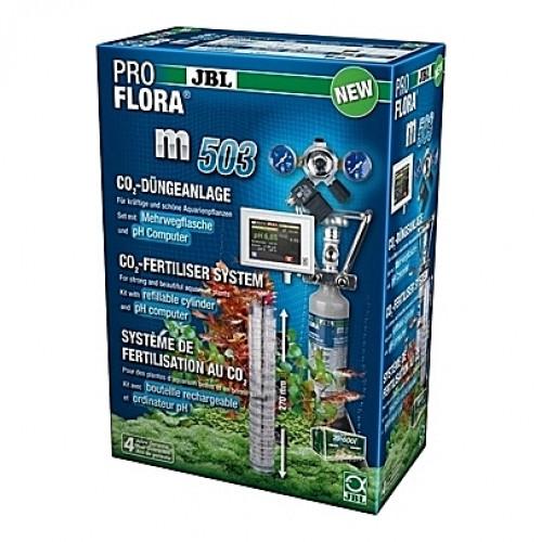 Kit de CO2 complet (bouteille rechargeable) JBL Proflora m503 avec contrôleur de pH - 500g (aquarium <600L)