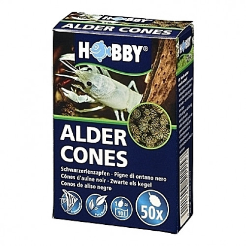 50 Fruits d'aulne stabilisateurs de pH ALDER CONES HOBBY