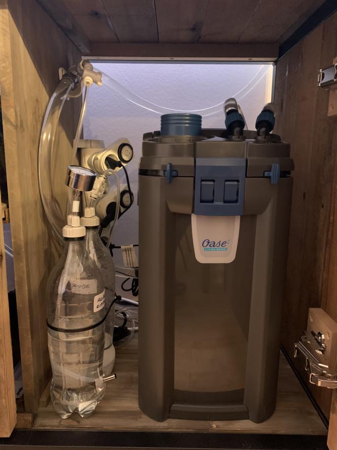 Mon installation : Pompe Oase Biomaster 600 thermo (chauffage integré) Kit CO2 DIY avec électrovanne  Diffuseur JBL proflora direct