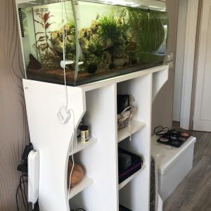 aquarium Flex Fluval 123L Blanc 2 mois