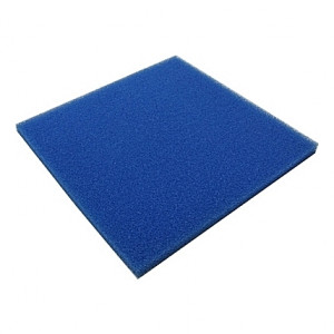 Mousse filtrante bleue large 50x50x2,5cm