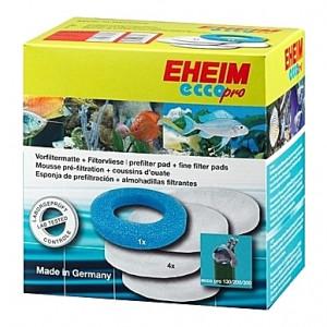 1 Mousse bleue + 4 Coussins de ouate (perlon) pour filtre EHEIM Ecco Pro (EHEIM 2032-2036)