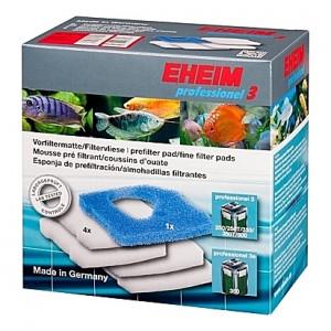 1 Mousse bleue + 4 Coussins de ouate (perlon) pour filtre EHEIM Professionel 3 (EHEIM 2071-2073-2074-2075 et 3e 350)
