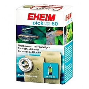 2 Cartouches filtrantes (mousses blanches) pour filtre EHEIM pickup 60 (EHEIM 2008)