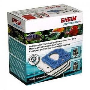 1 Coussin de mousse bleue + 4 Coussins de ouate (perlon) pour EHEIM professionel 4+ (EHEIM 2271-2273-2274-2275)