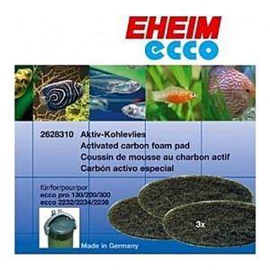3 Mousses de charbon actif pour filtre EHEIM Ecco Pro Confort (EHEIM 2032-2036)