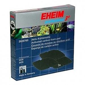 3 Mousses de charbon actif pour filtre EHEIM professionel (EHEIM 2076-2078)