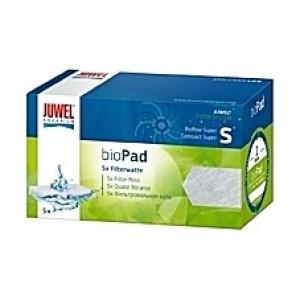 5 Ouates (perlon) compactes filtrantes bioPad Taille S pour filtre JUWEL Bioflow One