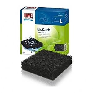 2 Mousses compactes de charbon actif bioCarb Taille L pour filtre Bioflow 6
