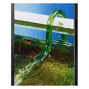 Canne de rejet (refoulement ) verte Embout plat coudé EHEIM 12/16mm