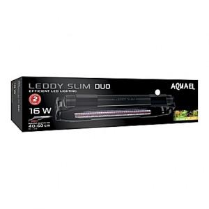 Eclairage AQUAEL LEDDY SLIM DUO SUNNY & PLANT (Noir) - 16W - 40 à 60cm