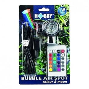 Spot de lumière submersible (LED télécommandée multi-couleur) 1W HOBBY BUBBLE AIR coulour & moon