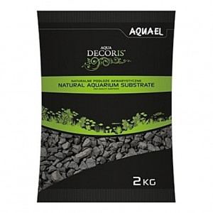 Gravier gris/noir basalt AQUAEL AQUA DECORIS - 2 à 4mm - 2Kg