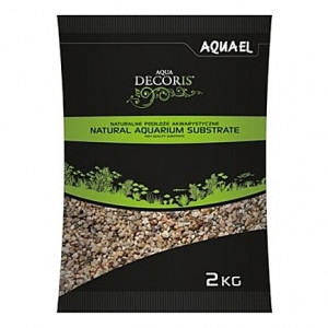 Gravier naturel multi-couleurs AQUAEL AQUA DECORIS - 1,4 à 2mm - 2Kg