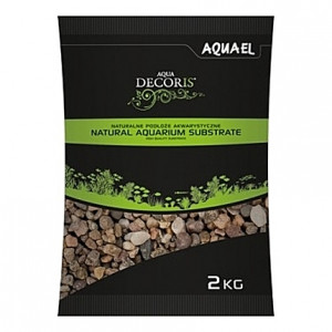 Gravier naturel multi-couleurs AQUAEL AQUA DECORIS - 5 à 10mm - 2Kg