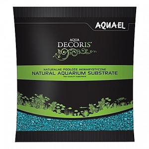 Gravier turquoise AQUAEL AQUA DECORIS - 2 à3mm - 1Kg