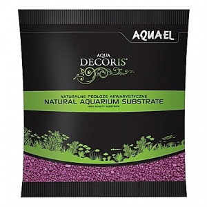 Gravier fushia AQUAEL AQUA DECORIS - 2 à 3mm - 1Kg