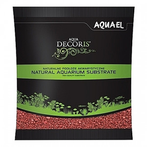 Gravier rouge AQUAEL AQUA DECORIS - 2 à 3mm - 1Kg