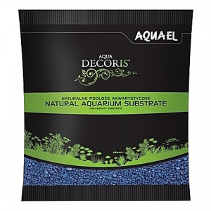 Gravier bleu AQUAEL AQUA DECORIS - 2 à 3mm - 1Kg