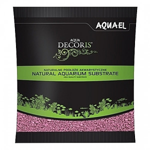 Gravier rose AQUAEL AQUA DECORIS - 2 à 3mm - 1Kg