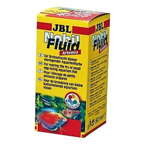 Nourriture pour élevage d'alevins et petits poissons JBL Nobil Fluid Artémia - 50ml