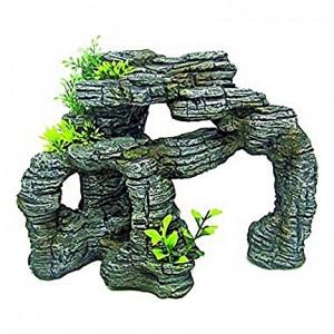 Décoration imitation pierres japonaises (ponts et cachettes)