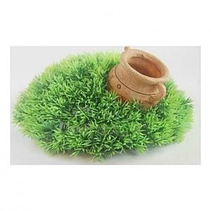Pot dans mousse - 12,5x11x6,5cm