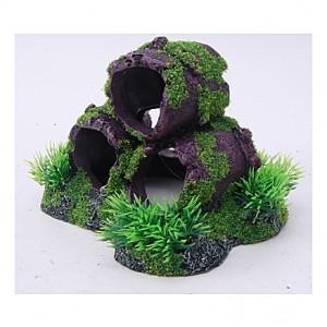 Cachettes avec mousses et plantes - 13,5x11,5x11cm
