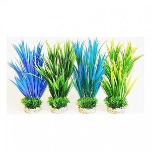 Herbes amazoniennes vertes et bleues 26cm