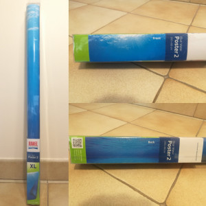 "JUWEL Poster 2 ""Blue Water"" Taille XL - 150x60 cm"