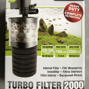 Filtre interne Aquael Turbo Filter 2000 700L complet en boite