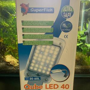 Eclairage Superfish Qube LED 40