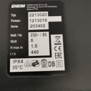 Eheim Classic 250 (modèle 2213)