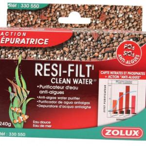 Resifilt'cleanwater purificateur d'eau anti-algues zolux filtre substrat 240gr