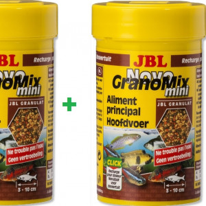 LOT DE 2 boites JBL NovoGranoMix Mini 100ml ML PETITS Granulés novo granomix 100