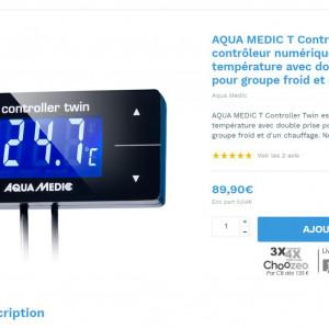 AQUA MEDIC T-Controller Twin Afficheur/controleur de température LCD