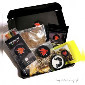 Shrimpybox (coffret complet nourriture pour crevettes) N°1 EN FRANCE SUR LA VENTE DE NOURRITURE ARTISANALE ET ACCESSOIRES POUR CREVETTES