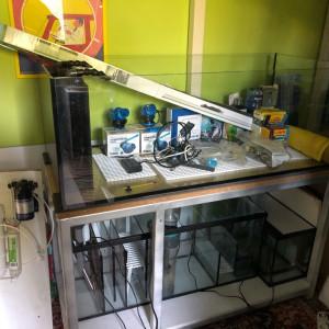 Aquarium complet 350L + Meuble + Pompes + Eclairages + Accessoires