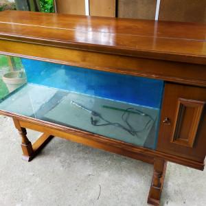 Don aquarium 240 litres + meuble + pompe + produits