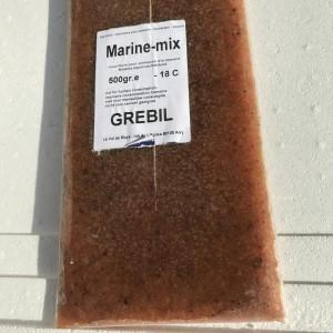 Nourriture marine mixte congelée (500g)